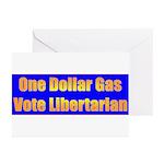 1 Dollar Gas Greeting Cards (Pk of 20)