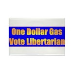 1 Dollar Gas Rectangle Magnet