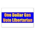 1 Dollar Gas Rectangle Sticker 10 pk)
