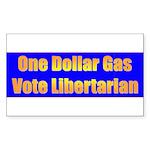 1 Dollar Gas Rectangle Sticker 50 pk)