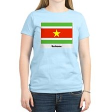 Suriname Flag Women's Pink T-Shirt