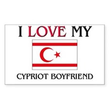 I Love My Cypriot Boyfriend Rectangle Decal