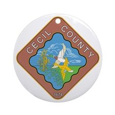 CECIL-COUNTY-SEAL Ornament (Round)