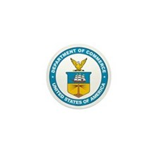DEPARTMENT-OF-COMMERCE-SEAL Mini Button (100 pack)