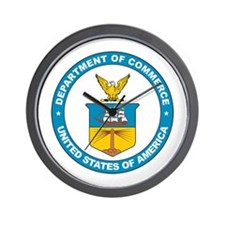 DEPARTMENT-OF-COMMERCE-SEAL Wall Clock
