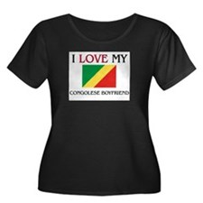 I Love My Congolese Boyfriend Women's Plus Size Sc