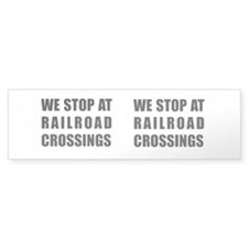 Railroad Crossing Sign Bumper Bumper Sticker