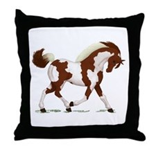 Chestnut Tobiano Horse Throw Pillow