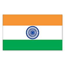 INDIA Rectangle Sticker 50 pk)