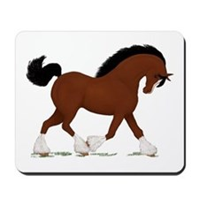 Bay Clydesdale Horse Mousepad
