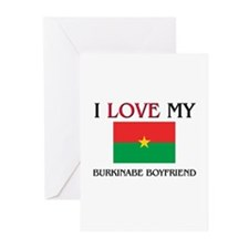 I Love My Burkinabe Boyfriend Greeting Cards (Pk o