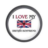 I Love My British Boyfriend Wall Clock