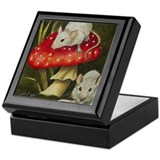 Miniature Mouse Art Jewelry Keepsake Box