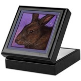 Brown Bunny Jewelry Keepsake Box