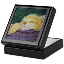 Kitten Cat Art Jewelry Keepsake Box