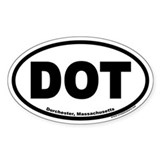 Dorchester, MA DOT Euro Oval Decal