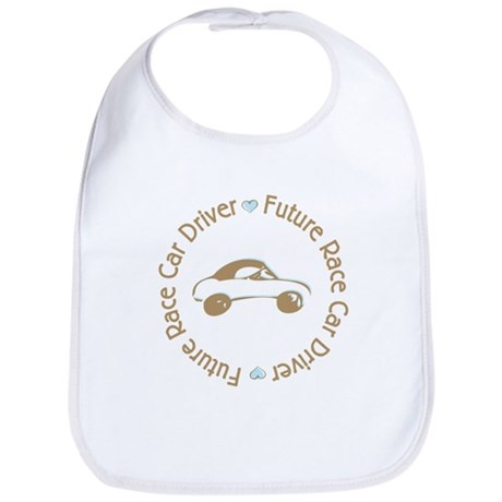 Future Race Car Driver Cartoon Boy Bib