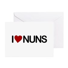 I Love Nuns Greeting Cards (Pk of 10)
