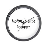 Mommy's Little Designer Wall Clock