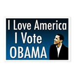 I love America, I Vote Obama Postcards