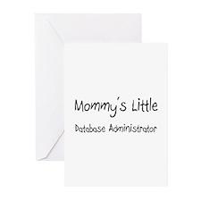 Mommy's Little Database Administrator Greeting Car