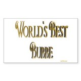 Wold's Best Bubbe Rectangle Decal