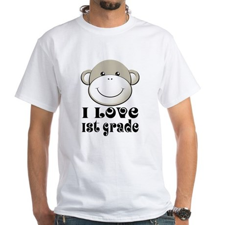 I Love First Grade White T-Shirt