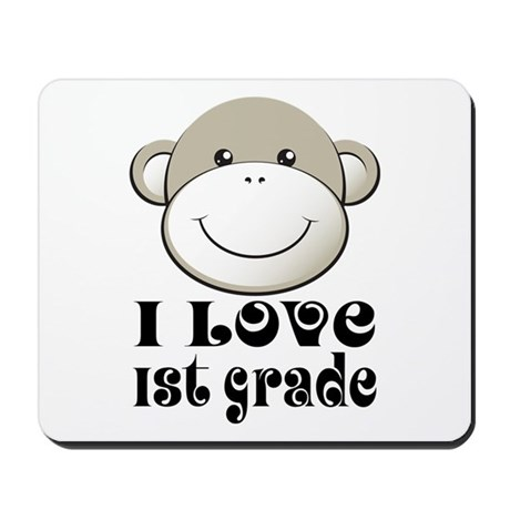 I Love First Grade Mousepad