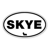 SKYE (Skye Terrier) Oval Decal