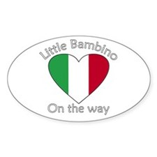 Little Bambino On the Way2 Oval Decal