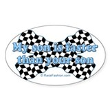 faster than yours 2 Oval Decal