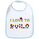 I LOVE TO BUILD Bib