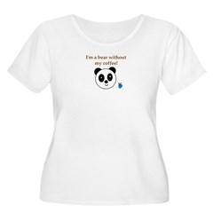 BEAR WITHOUT COFFEE Women's Plus Size Scoop Neck T