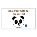 BEAR WITHOUT COFFEE Rectangle Sticker 50 pk)