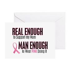 Real Enough Man Enough 1 (Mom) Greeting Card