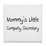 Mommy's Little Company Secretary Tile Coaster
