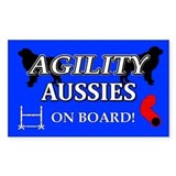 Aussie Agility Rectangle Bumper Stickers