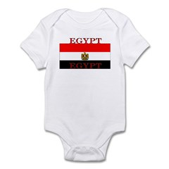 Egypt Egyptian Flag Infant Creeper