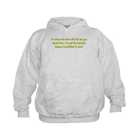 One Mean Grandfather! Kids Hoodie