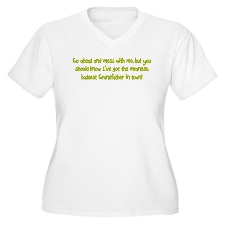 One Mean Grandfather! Women's Plus Size V-Neck T-S