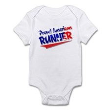 Proud American Runner Infant Bodysuit