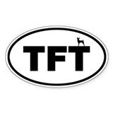 TFT (Toy Fox Terrier) Oval Decal