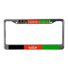 Afghanistan Afghan Flag License Plate Frame