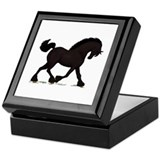 Friesian Black Horse Keepsake Box
