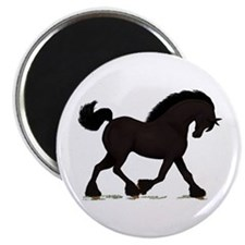 "Friesian Black Horse 2.25"" Magnet (10 pack)"