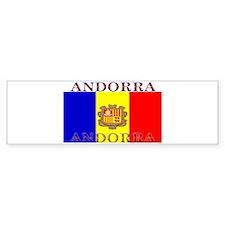 Andorra Andorran Flag Bumper Bumper Sticker