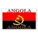 Angola Angolan Flag Rectangle Sticker