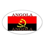 Angola Angolan Flag Oval Sticker