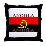Angola Angolan Flag Throw Pillow