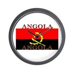 Angola Angolan Flag Wall Clock